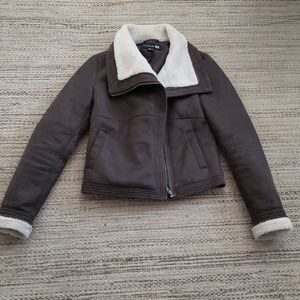Forever 21 faux suede jacket size small petite